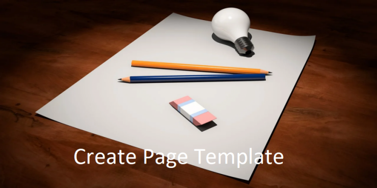 Create Page Template