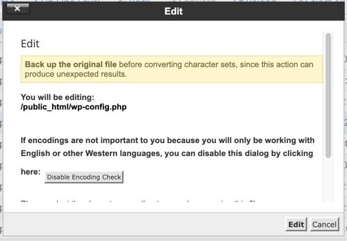 Edit After Checking Character Encoding
