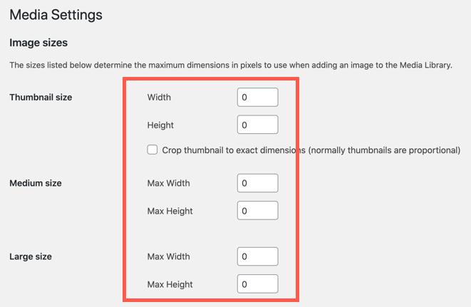 Make Dimensions Zero