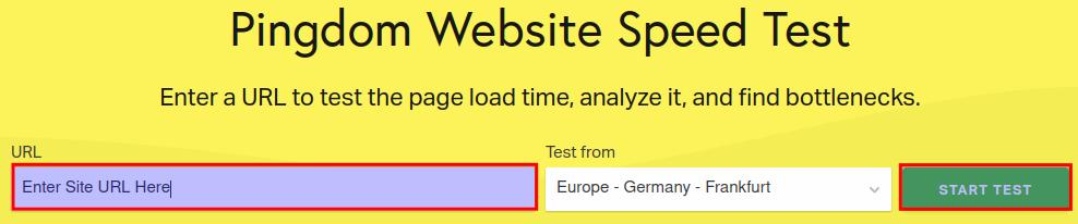 Pingdom Website Test