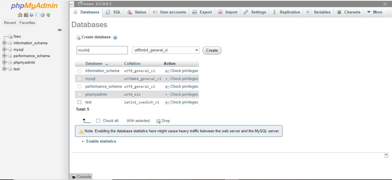 Creating Database for WordPress