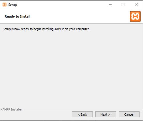Installing XAMPP