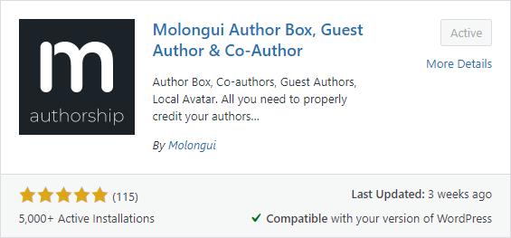 Molongui Author Box